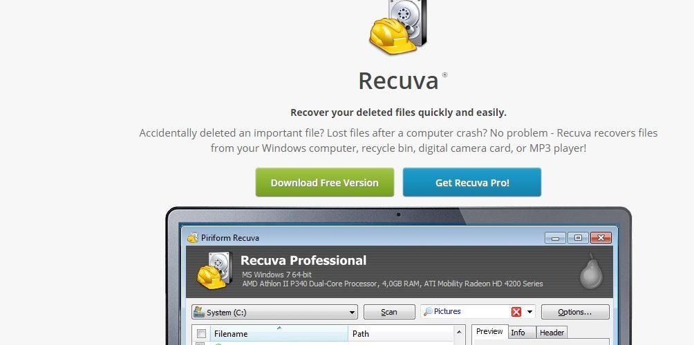 Как восстановить утерянные данные компьютера