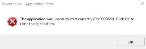 Ошибка при запуске приложения 0xc0000022 как исправить