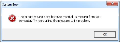 Программа не может запуститься, потому что MSCFT.dll отсутствует на вашем компьютере
